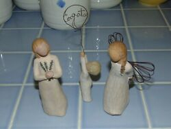 Three Willow Tree Figurines-- Angel Of Remembrance - Thank You - Congrats