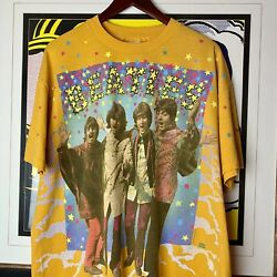 Vintage 90s The Beatles Magical Mystery Tour Shirt Size Xl All Over Winterland