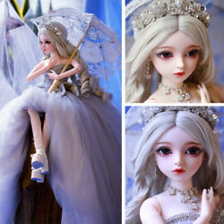 60cm 1/3 Bjd Doll Girl Makeup Changeable Eyes Wigs Elegant Clothes Birthday Gift
