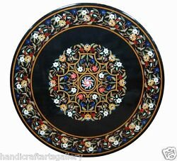 36x36 Marble Dining Side Coffee Table Top Rare Inlaid Marquetry Home Dandeacutecor Art