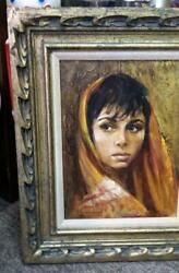 Freedom Fighter Oil Painting Signed By Sandu Liberman Jewish