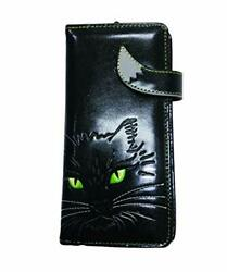 Gothic Lucky Cat Purse - Black Stylish Wallet For Cat Lover - Faux Leather