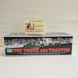 2013 Hess Toy Truck And Tractor Nib Mint With Original Bag And Batteries Lights Wk