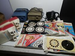 Large Lot Of Talking Viewmaster Projectors And 3d Talking Cartridges