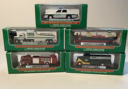 Hess Truck Miniature Lot Of 5 19992000200120022003 New In Box Collectibles