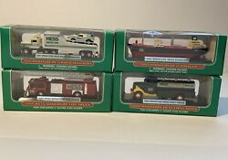 Hess Truck Miniature Lot Of 4 1999200020012002 New In Box Collectible