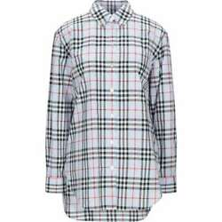Blouse Shirt Tops Checked Sky Blue