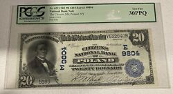 1902 20 National Bank Note Plain Back Ch9804 Poland New York