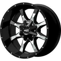 4- 20x10 Black Moto Metal Mo970 5x5.5 And 5x150 -24 Wheels Courser Mxt 35 Tires
