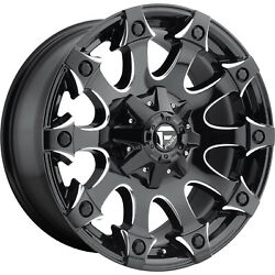 4- 20x9 Black Milled Fuel Battle Axe 6x135 And 6x5.5 +1 Rims Courser Mxt 35 Tires