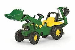 Toys Johndeere Pedal Tractor W/ Working Loader And Backhoe Digger,youth Ages 3+