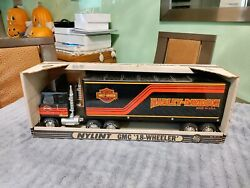 Nylint Toys No 911-z Gmc Semi Cabover Harley Davidson - Pressed Steel - Boxed