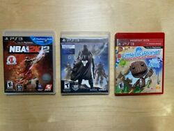 Ps3 Video Games Bundle - Destiny, Nba 2k12, Little Big Planet Game Of The Year