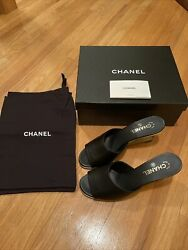 Cc Heel Mule Black Shoes Size 41 Sold Out Sku 401119792044 Authentic