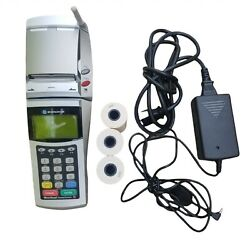 Exadigm Credit Card Reader Xd2000 Wireless Cmda V With Manual And 3 Rolls Paper.