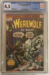 Werewolf By Night 32 1st Appearance Of Moon Knight Marvel 1975 Cgc 4.5