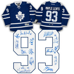 1993 Toronto Maple Leafs 14 Player Team Signed Semi-finals Game 7 Jersey /93