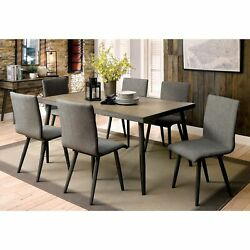 Furniture Of America Macon 7-piece Dining Table Set Grey 7-piece Sets