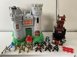Vintage 1994 Fisher Price Great Adventures Castle Catapult 18 Knights Ram Arrows