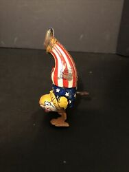 Vtg J Chein And Company Clown Walking On Hands Tin Lytho Toy