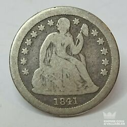 1841-o Seated Liberty Dime 10c Ungraded 900 Silver Us Coin Cb1andnbsp