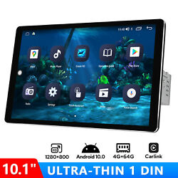 10.1 Inch 1280800p Touchscreen Android Universal Single 1 Din Car Radio Stereo