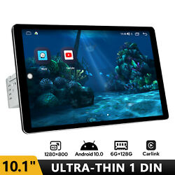 10.1 Inch Single Din Universal Head Unit With 1280800p Ultra Thin Screen 6+128g