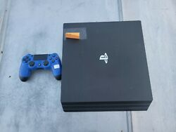 Sony Playstation 4 System Ps4 Pro 1tb Console + Controller Read Description