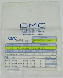 New Omc Outboard Marine Corp Boat O-ring Lot Of 4 Part No. 319662