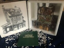 """Dept 56 Dickens Village Series 1994 """"hather Harness"""" Retired Lighted Tack Shop"""