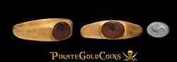 Roman Gold Ring From 3rd Century Ad Ancient Jewelry Dolphin Gemstone Antique