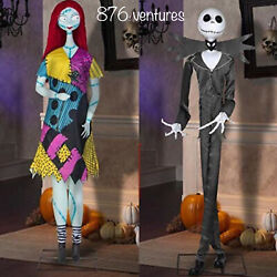 Halloween Jack Skellington And Sally Deluxe Life-size Animated Characters