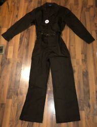 New With Tags Mens Brown Topmaster Coverall Work Cloths Uniform Medium 38 - 40