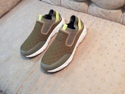 Vince Camuto Slip On Men's Shoes Driving Loafers Khaki Size 13