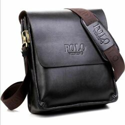 PU Leather Shoulder Bags For Men Casual Formal Business Crossbody Carrier Style $25.14