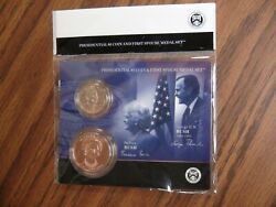2020 George Hw And Barbara Bush Presidential 1 Coin And First Spouse Medal Set