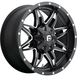4- 20x9 Black Fuel Lethal D567 6x135 And 6x5.5 +1 Rims 285/55/20 Tires