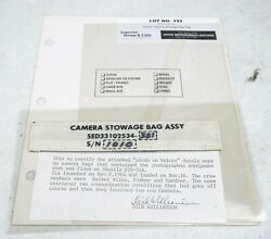 Original Nasa Space Shuttle Discovery Flown Camera Stowage Bag Tag Decal Sts-51a