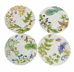 4 Woodland Harvest Plates By Spode Made Exclusively For William Sonoma In 2006
