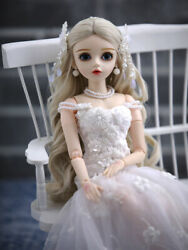 60cm 1/3 Bjd Doll Girl Toys Changeable Eyes Wigs Clothes Full Set Birthday Gift