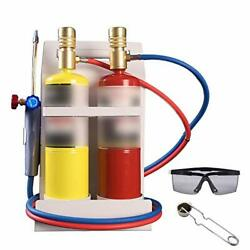 Oxygen Mapp Torch Kit With Pressure Meter With Tank Support, Glasses And Flint S