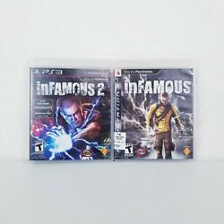 Infamous 1 And 2 Playstation 3 Ps3 Collection Cib Complete Video Game Lot Bundle