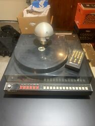 Adc Accutrac +6 Turntable Works W/rxi Receiver +tx-2 Remote Needs Battery Clip