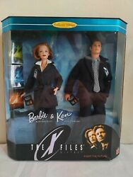 Mattel The X-files Barbie And Ken As Scully And Mulder - Tribute Collection