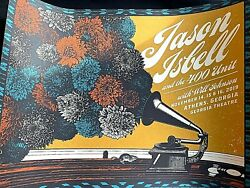 Jason Isbell Athens Ga 2019 Ae Signed S/n /50 Screen Print Poster Ships Today