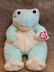 Vintage 1999 Ty Baby Frog Plush Stuffed Animal Pastel Green Rattles 12andrdquo W/ Tags