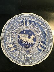 Spode Blue Room Collection Traditions Series  Dinner Plate Chariot