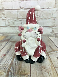 Whimsi Clay Cats By Amy Lacombe Santa Sitting Cat Figurine 27655 New