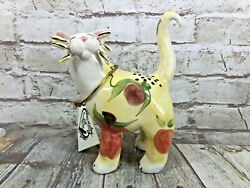 Whimsi Clay Cats By Amy Lacombe Fruity Standing Cat Figurine 21002 New