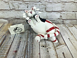Whimsi Clay Cats By Amy Lacombe Stars And Stripes Sitting Cat Figurine 21011 New